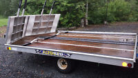 DELUXE DRIVE ON DRIVE OFF DOUBLE SLEDBED TRAILER