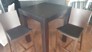 Unique high table and stools