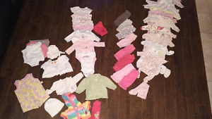 Girls clothing lot 3 month