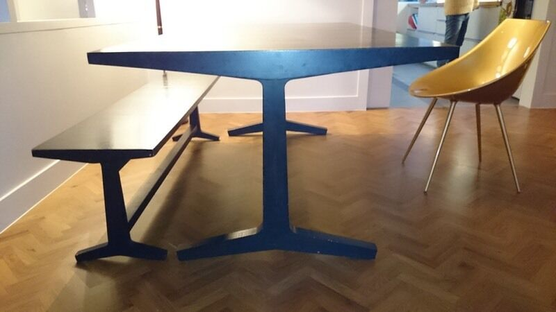 Habitat Parker Dining Table And Matching Bench For Sale