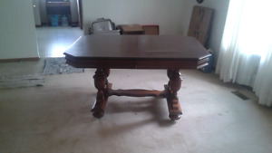 Vintage Dining room table, chairs , China cabinet, and buffet
