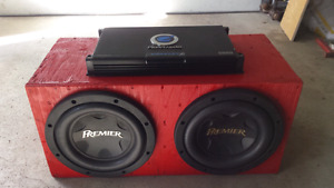 """Two 12"""" subs with amp"""
