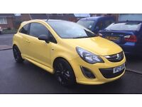 Yellow Vauxhall Corsa Limited Edition December 2014, 9000 miles full service History!