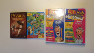 Assorted Christian DVD (2) & VHS (2) - Like New ($5 Lot)