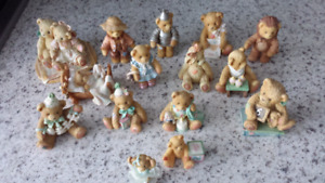Cherished teddies collection beary figurines $5ea or all for $50