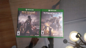 Titanfall 2 & Dead Rising 3, excellent condition