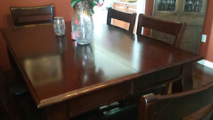 Dinning Room table and light fixture only $1000
