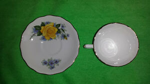 Royal Vale Single Yellow Rose Bone China Cup & Saucer Cambridge Kitchener Area image 4