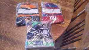 Brand new Budweiser NFL toques - Giants, Bears, Seahawks