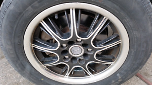 """Velocsity 15"""" rims with tire in great condition $250"""