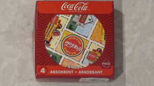 reduced MIINT in Box Coca-Cola 4 round coasters - Good Ole Days