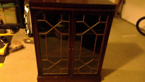 Cabinet With Glass Inlay Very Good Condition