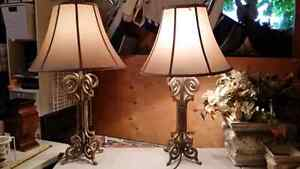 Beautiful heavy cast iron lamps