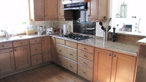 Used granite counter top inc double sink and gas cook top
