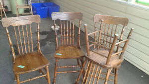 Wood Antique Chairs