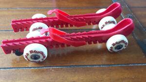 Red Roller skate guards
