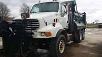 2005 STERLING DUMP TRUCK WITH VIKING SNOW PLOW