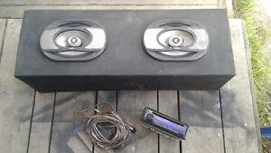 Stereo and Speaker Box