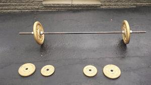 Ensemble de poids et haltères