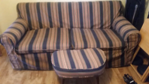 Free hide-a-bed couch with footstool