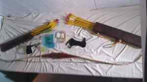 Left-handed Recurve Bow and Kit