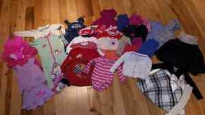 Large baby girl clothing lot