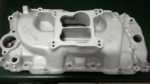 Chevy BBC Vintage Old School Weiand 2P-180 8005 Oval Port Intake