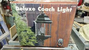 Exterior black coach light new