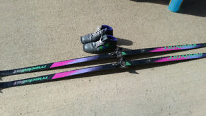 Mens crosscountry skis and boots