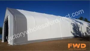 New Coverall Fabric Buildings|Portable Canvas Storage Structures| Easy Setup Protect Your Assets| Plus Free Accessories!