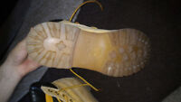 Timberland boots. SIZE 11 and a half to 12 Jr.  Good condition.