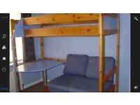 Kids Stompa bunk bed with double sofa bed and desk