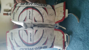Slightly used goalie pads