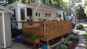 26' Fleetwood Trailer in Kenorus Campground Port Elgin Kitchener / Waterloo Kitchener Area image 2