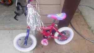 "Disney Princess 12"" bike with training wheels"