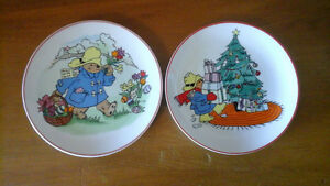 Paddington Bear set of 2 plates
