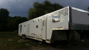 2007 50' Cargomaster Snowmobile trailer with living quarters