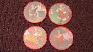 REDUCED - From 1992 - 4 Coca-Cola Santa coasters