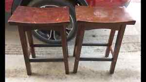 Solid wood counter stools