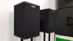 Nuance Bookshelf Speakers on Stands