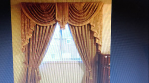 Classic European Style Custom Embroidered Curtains