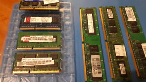 ($50 OBO) - 6GB PC3 RAM for Laptops + 3 GB DDR2 RAM for Desktops