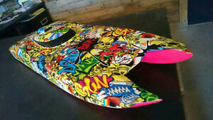 R/C body custom paint and hydrographics at Sketchs Ink