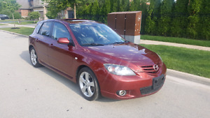 2006 MAZDA 3 FULLY LOADED SUNROOF LEATHER $1200 PLUS HST AND LIC