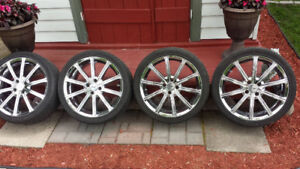 "4 Pneus & Mags 17"" 4x100 Low Profile ""FAST"""