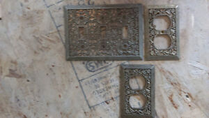 metal switch plate and outlet covers-fancy floral design
