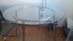 Round Glass Ikea Salmi Table