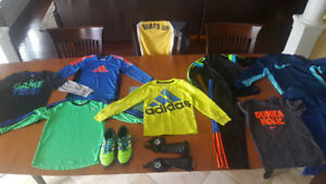 Soccer shoes & adidas, nike clothes