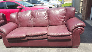 Used very soft leather couch AND love seat.Gorgeous soft leather