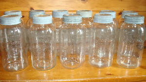 VINTAGE CROWN JARS - EXTRA LARGE 1/2 GALLON SIZE